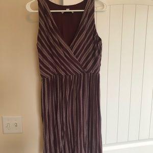 Burgundy Ann Taylor Loft dress.